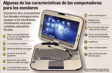 Computadoras fabricadas en Bolivia