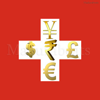 Swiss Bank Account - How to open one?,Swiss flag with currency symbols, Dollar symbol, Euro symbol, Yen Symbol, Rupees symbol, Pound symbol,Swiss bank account, Switzerland flag