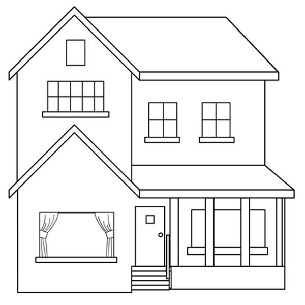 dibujo pintar casa: