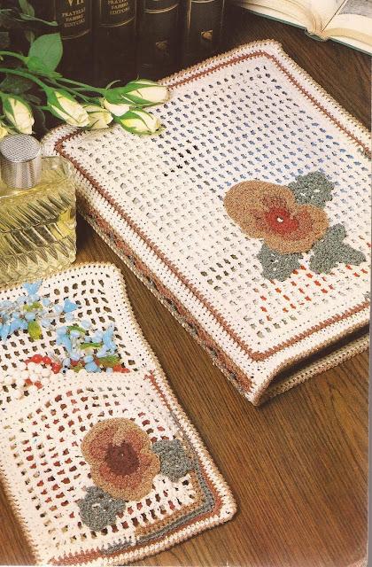 Carpeta y Joyero a Crochet