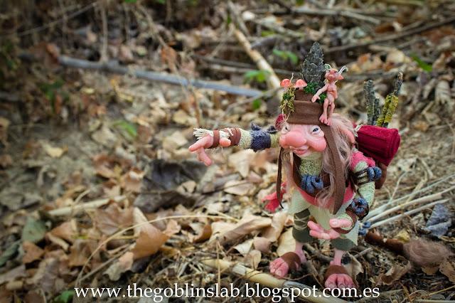 Traveller goblin Elda Moonsteps ooak fantasy goblin