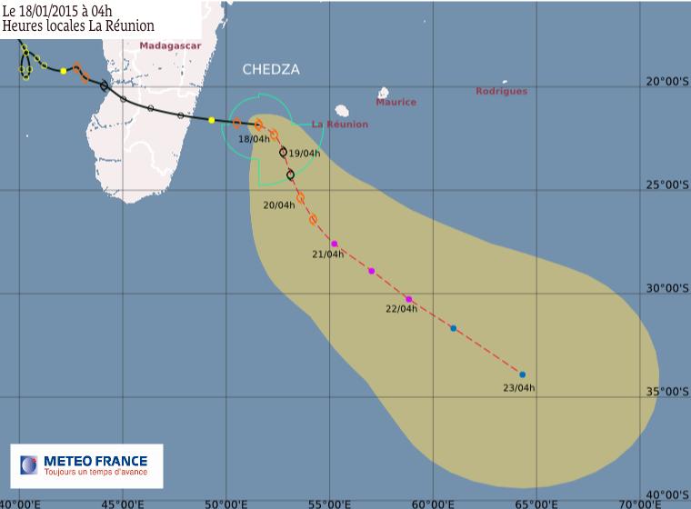 Tempête tropicale Chedza: le point à 4h00