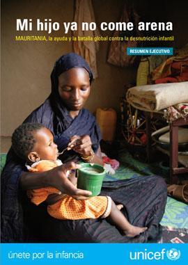 Día Universal del Niño UNICEF informe Mi hijo ya no come arena