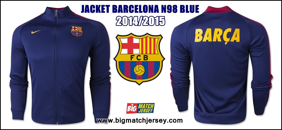 Jaket Terbaru Nike Barcelona Home Training N98 GO Thailand Official 2015 Warna Biru Merah Kuning