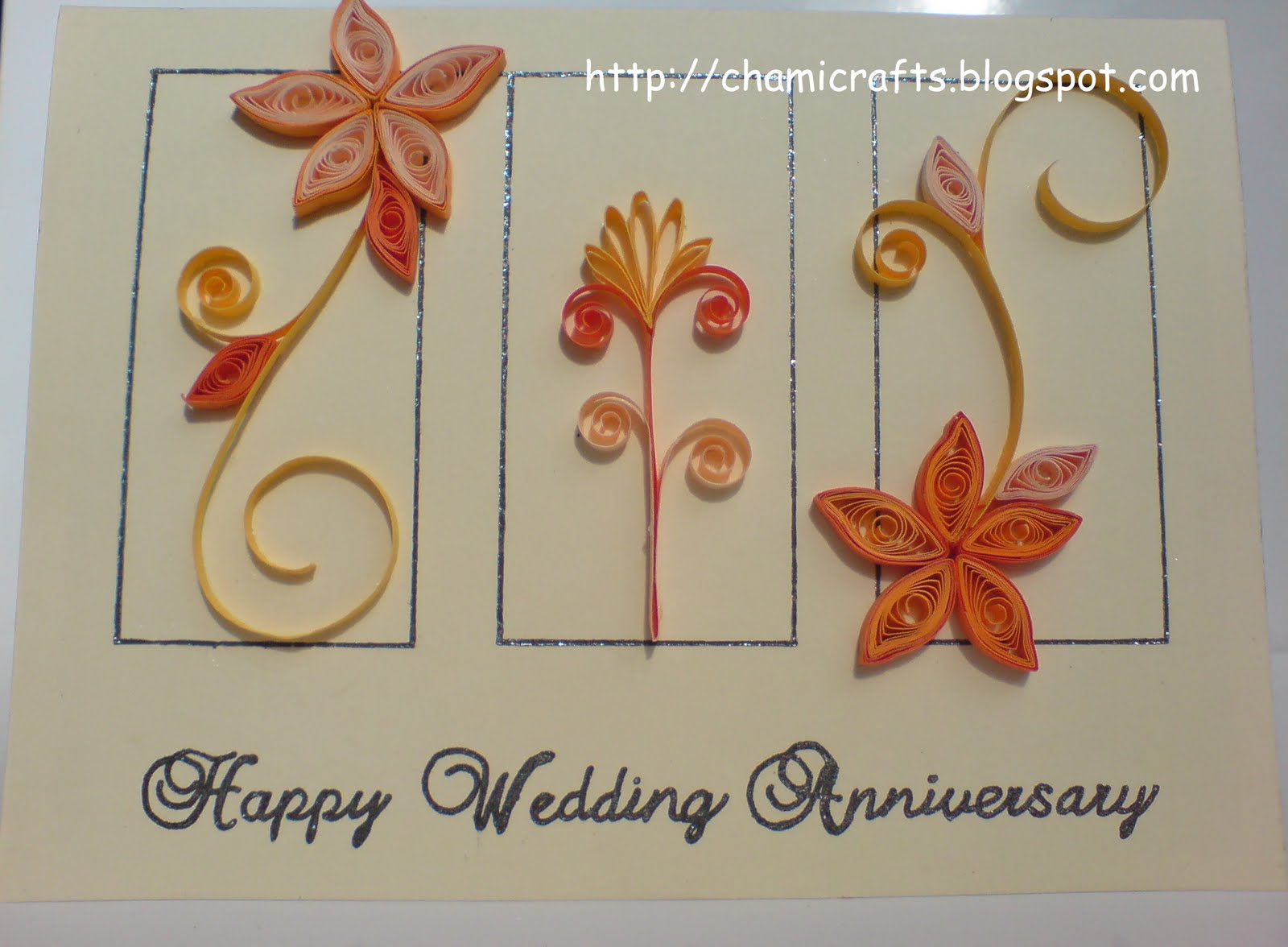 Chami crafts handmade greeting cards wedding anniversary card monday may 9 2011 m4hsunfo