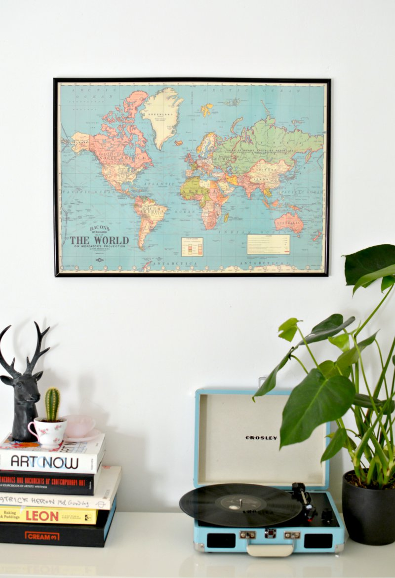 Diy world map wall art burkatron diy world map wall art gumiabroncs Gallery