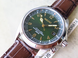 SEIKO ALPINIST SUNBURST GREEN DIAL SARB017 - AUTOMATIC 6R15C - BRAND NEW WATCH