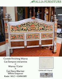 contoh furniture melamine duco marmer allia furniture