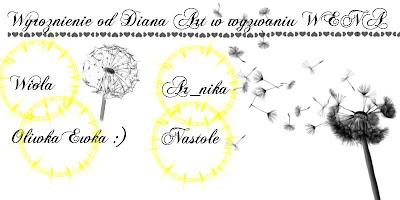Wyróżnienie od Diany za wenę