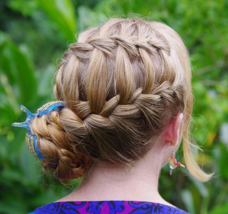Hairstyles Master Waterfall French Braid Updo