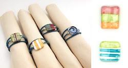 anillos para servilletas con cuentas