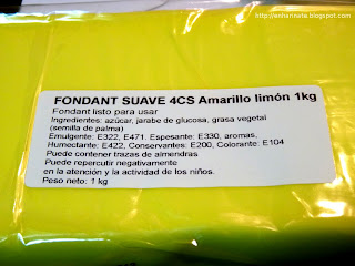 fondant amarillo EnHarinate
