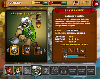 Dungeon Rampage Battle Chef facebook game