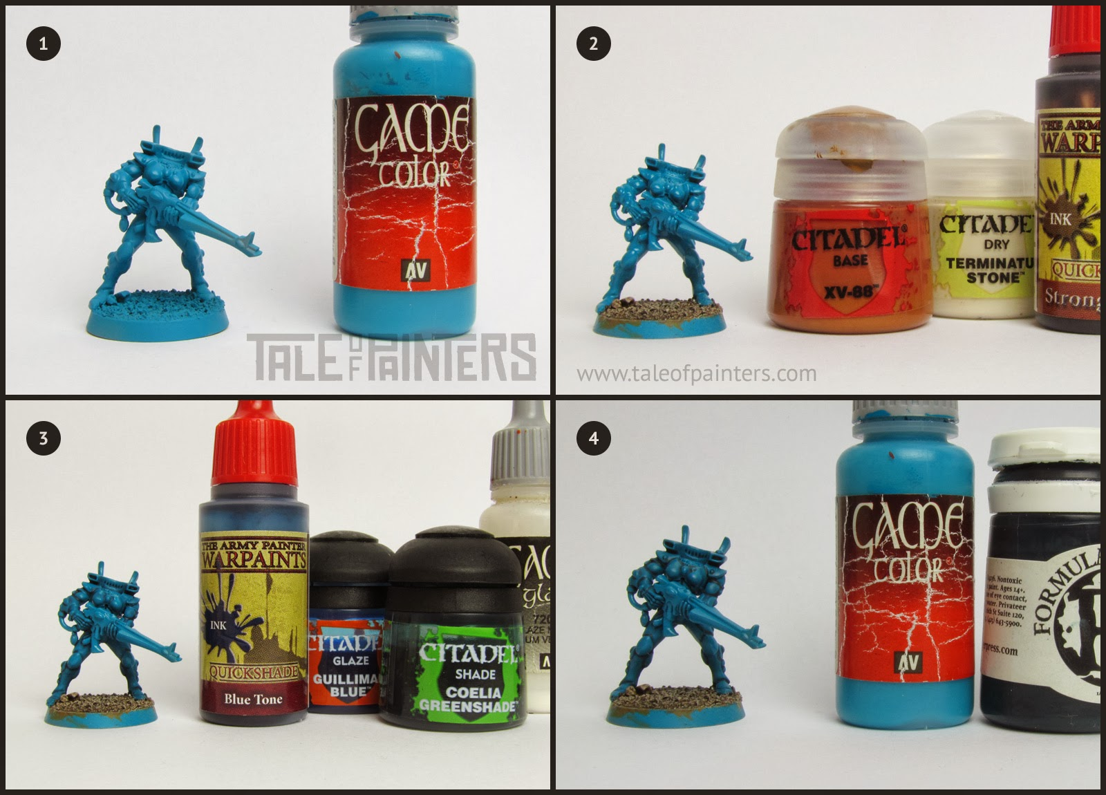 Painting miniatures color master primer - The Model Was Primed With A Army Painter S Uniform Grey Primer Any Primer Will Do But A Medium Grey Makes A Great Undercoat For Turquoise