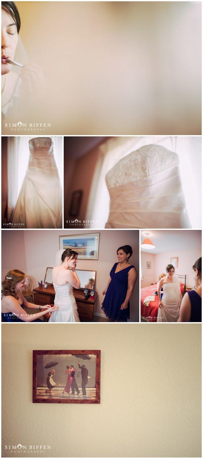 Bridal preparation photographs
