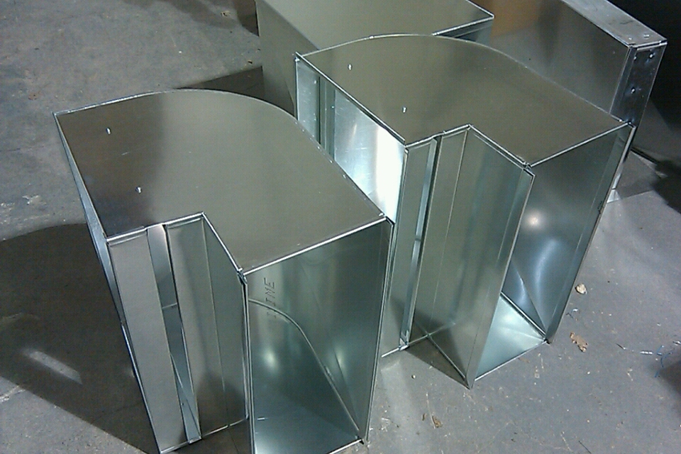 Metal Heating Ducts : Photos of some recent custom hvac fabrication — k e