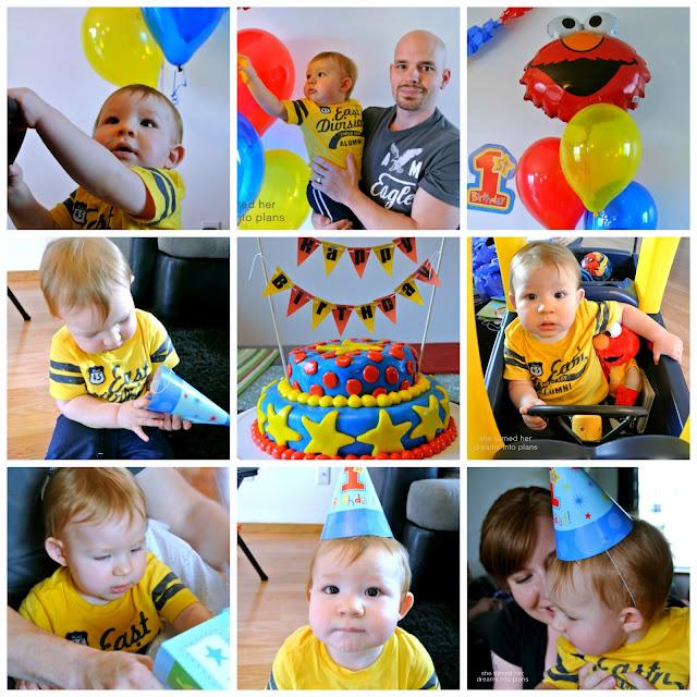A First Birthday Party Collage