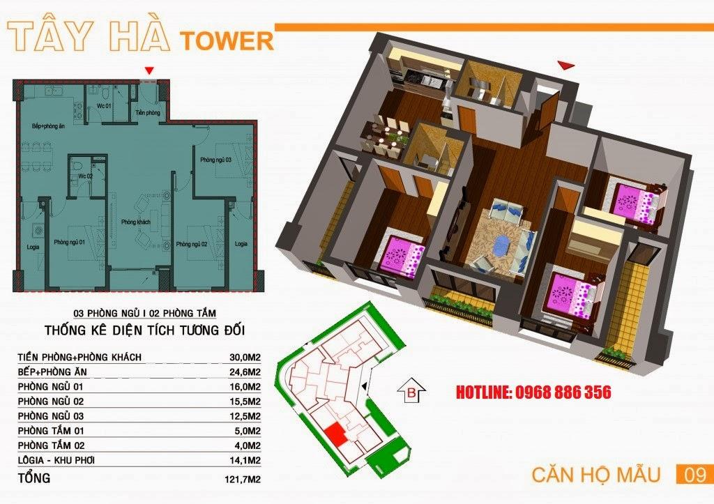 Căn hộ số 9 chung cư Tây Hà Tower
