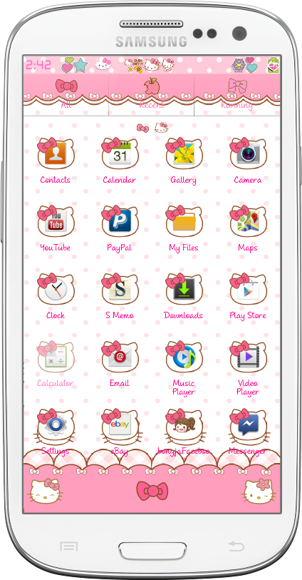 Folders de Hello Kitty Hello Kitty Travel go Launcher