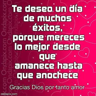 Imagen Te Deseo Un Día De Muchos Éxitos (Imagenes para Facebook)