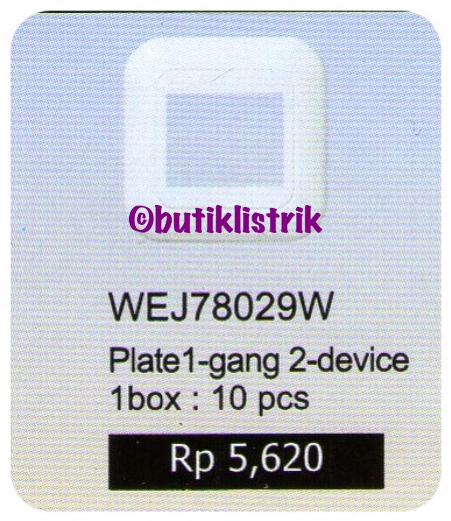 Saklar Frame Double Panasonic Wej 78029w Seri