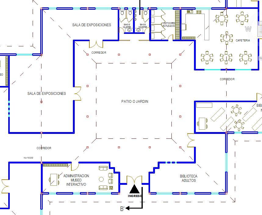 el segundo patio central cuenta tambin con una oficina de del museo una biblioteca para adultos otra para nios una amplia sala de
