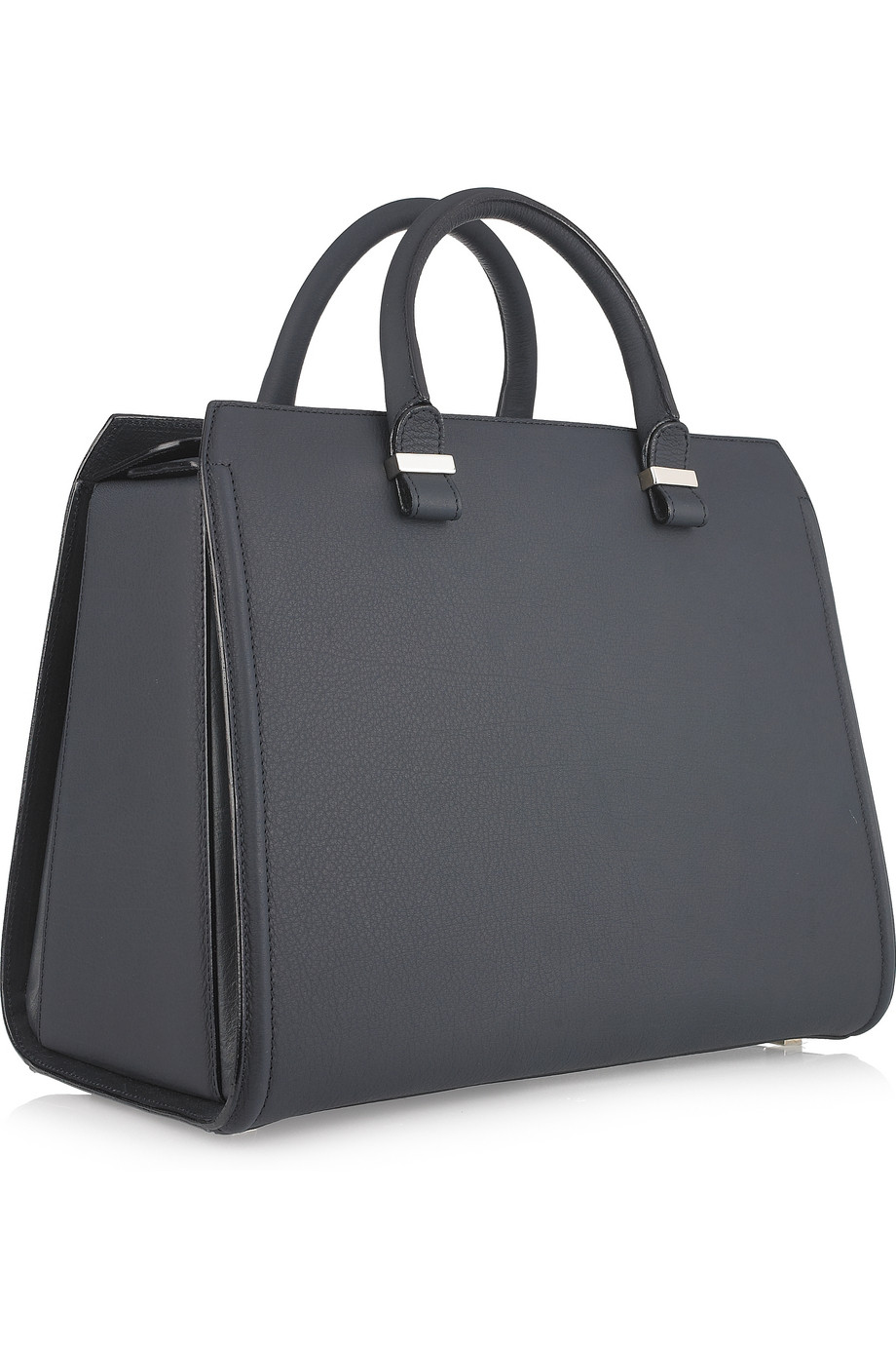 bagfetishperson: Victoria Beckham black structure leather tote