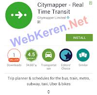 Aplikasi Traveling Android Terbaik CityMapper Transportasi Publik