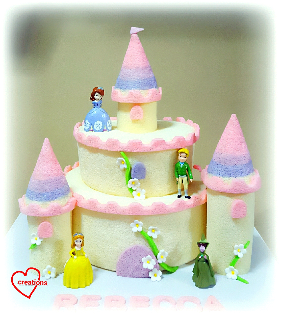 Loving Creations For You Princess Sophia Ombre Tier Castle