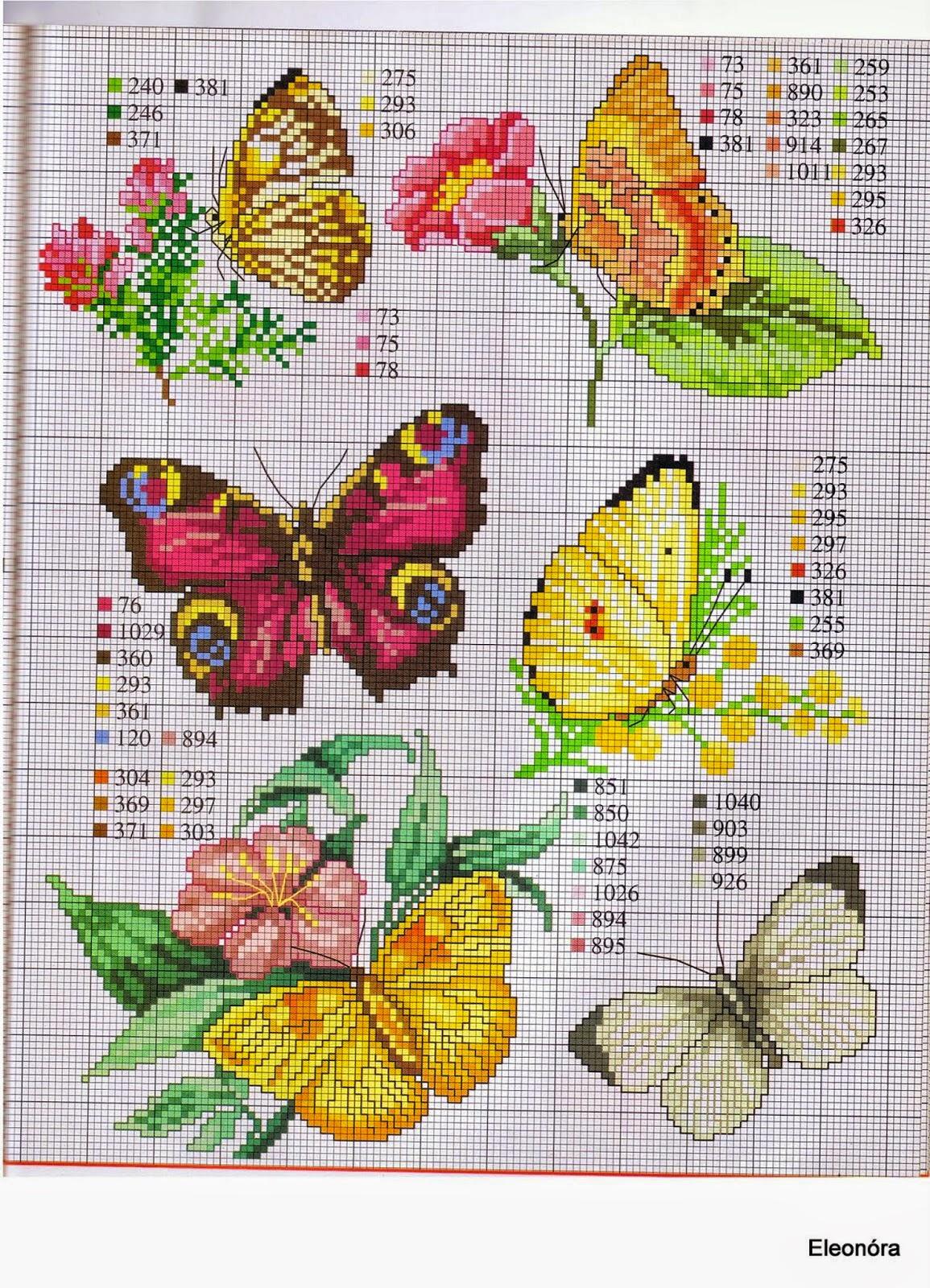 grande raccolta di schemi e grafici per punto croce free