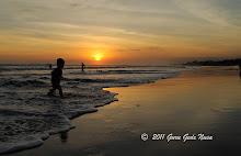 Sunset di Pantai Berawa Kuta
