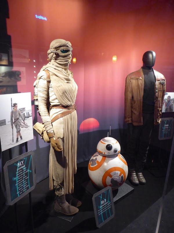 Original Star Wars Force Awakens costume prop exhibit