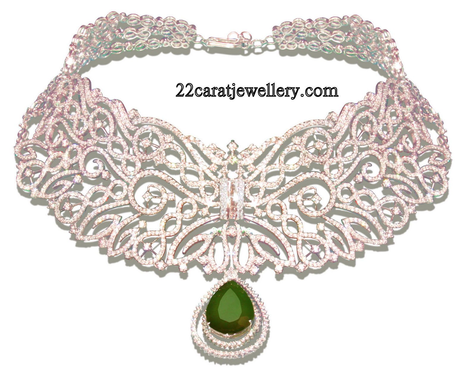 Diamond Bridal and Choker Necklace Sets Gallery Jewellery Designs