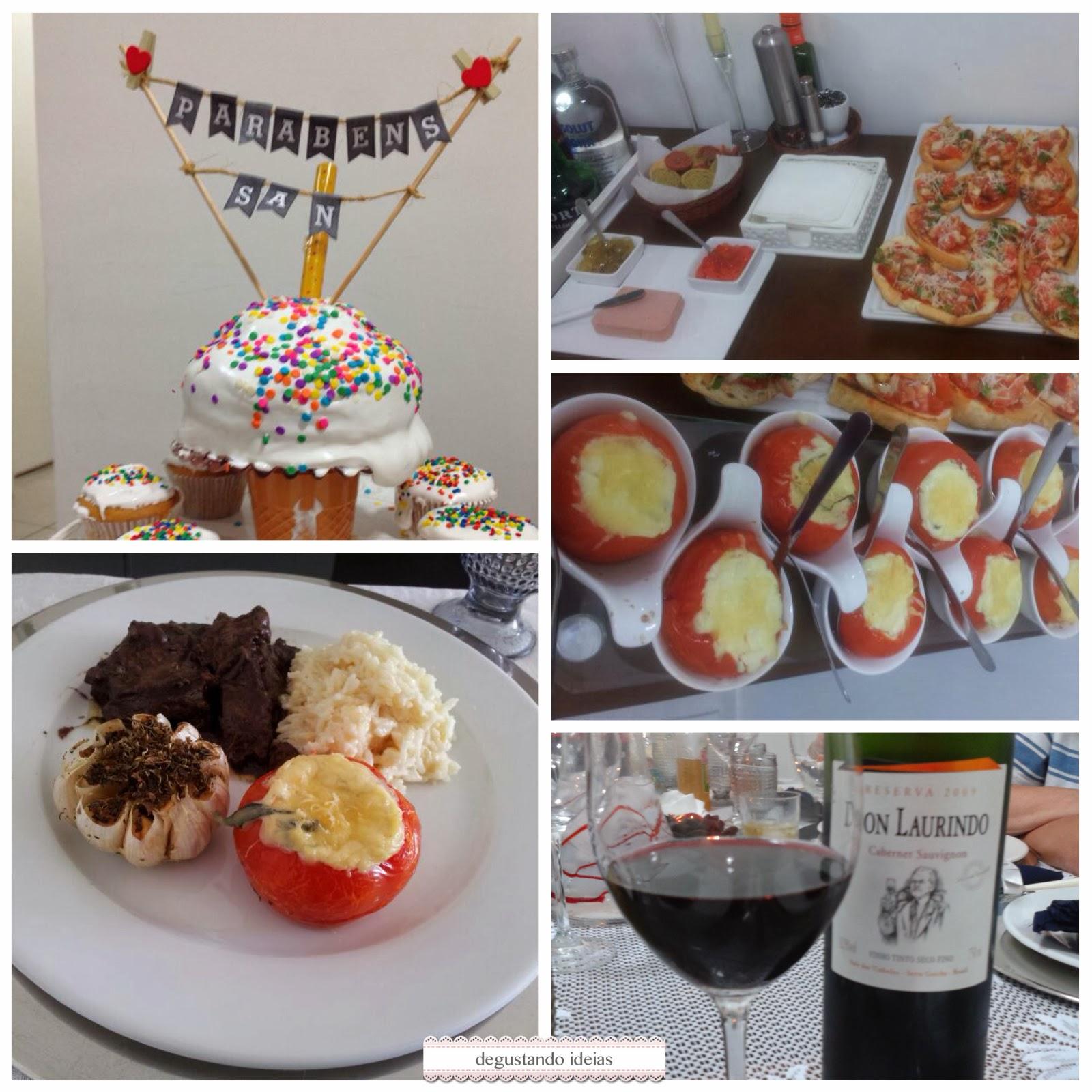 Preferência Degustando ideias | Blog de Culinária: Jantar de aniversário do marido SF44