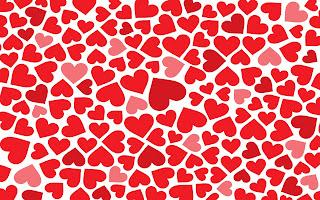 Rode en roze liefdes hartjes
