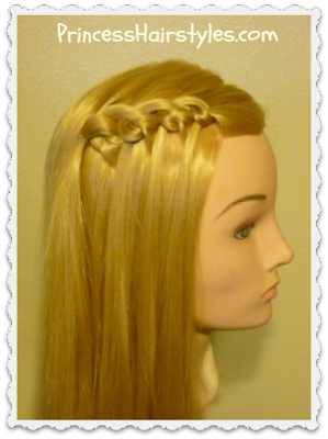 Knotted waterfall braid tutorial