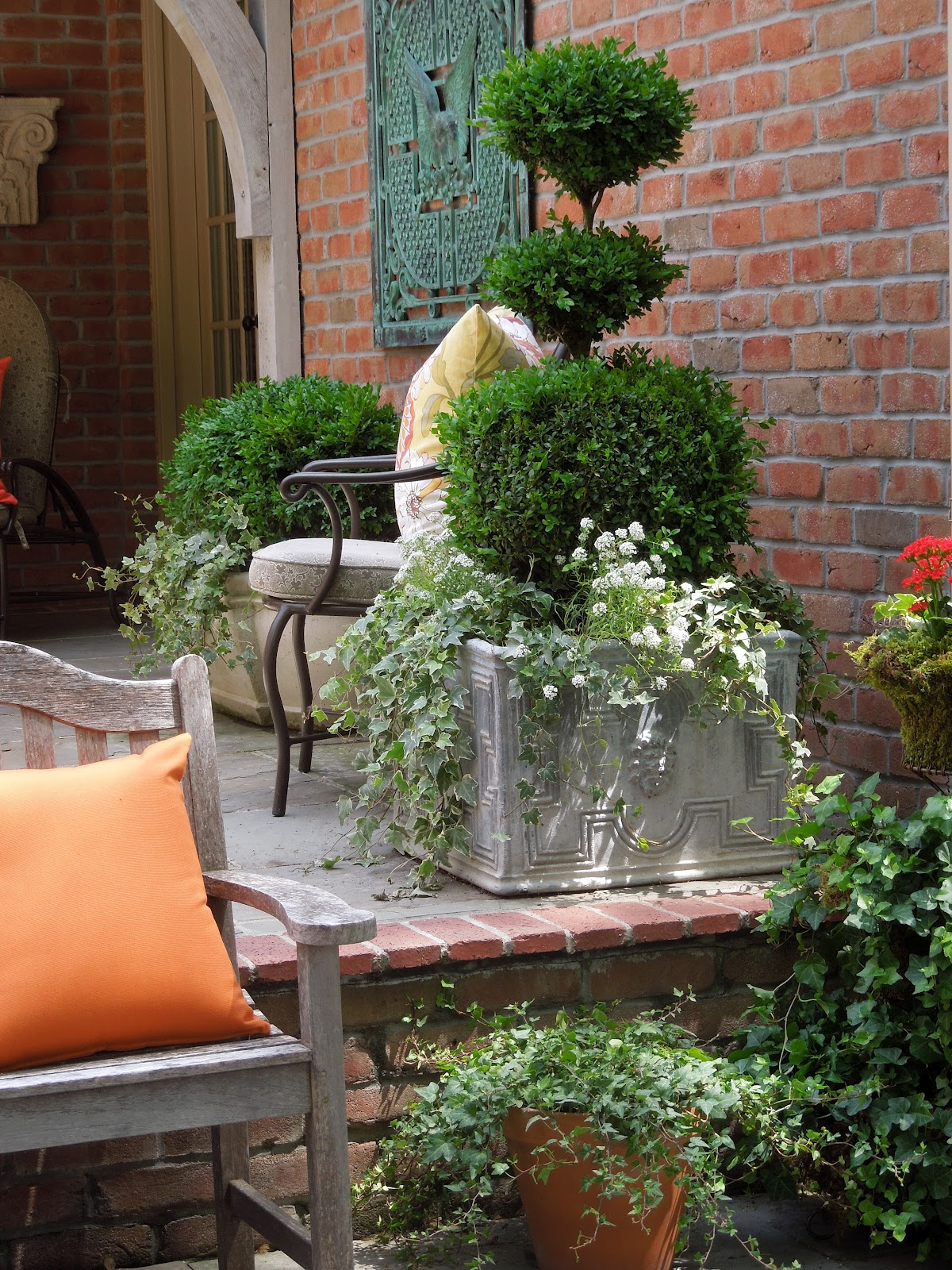 The French Tangerine Patio Pots 2012