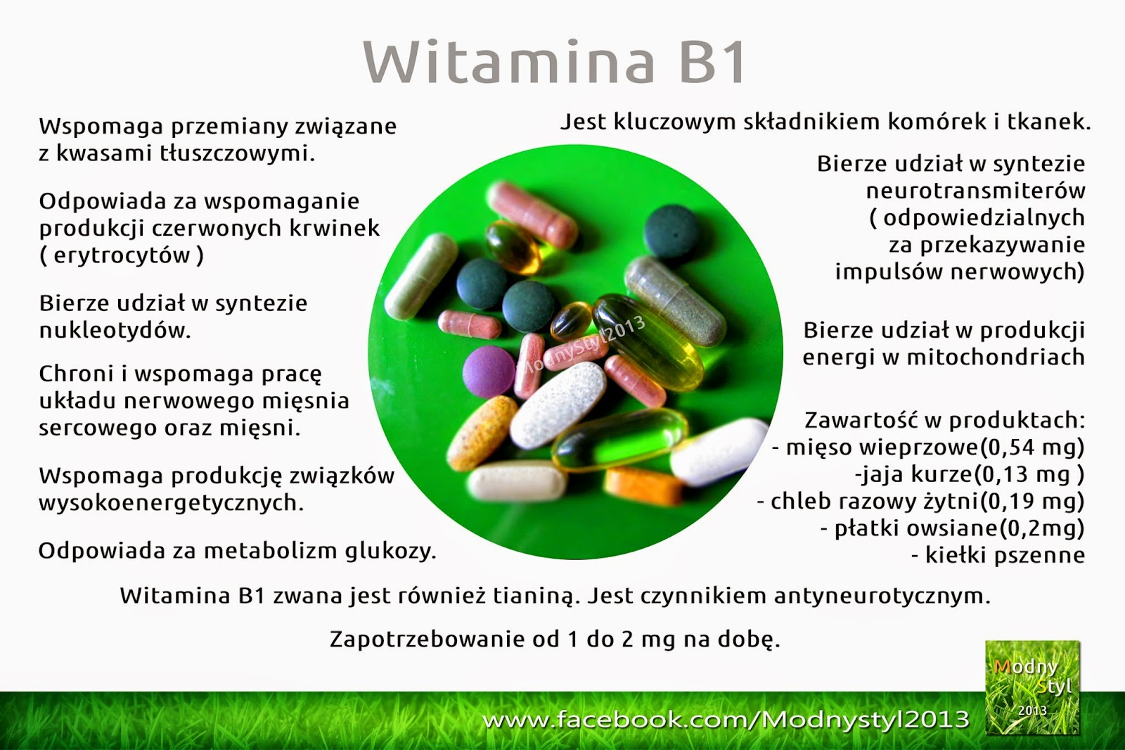 Witamina B1 zwana tiaminą