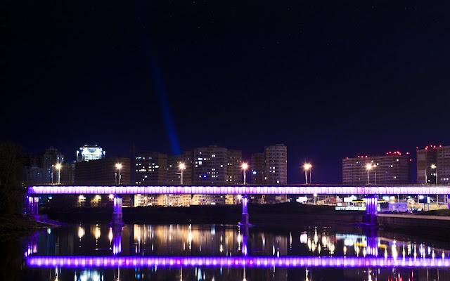Краснодар, ночь, закат, красоты, достопримечательность, Кубань, река, мост, Sergio Evsyukov, Евсюков, фотограф, город, City, Russia