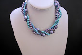 Amethyst Chip and Pearl Twisted Statement Necklace