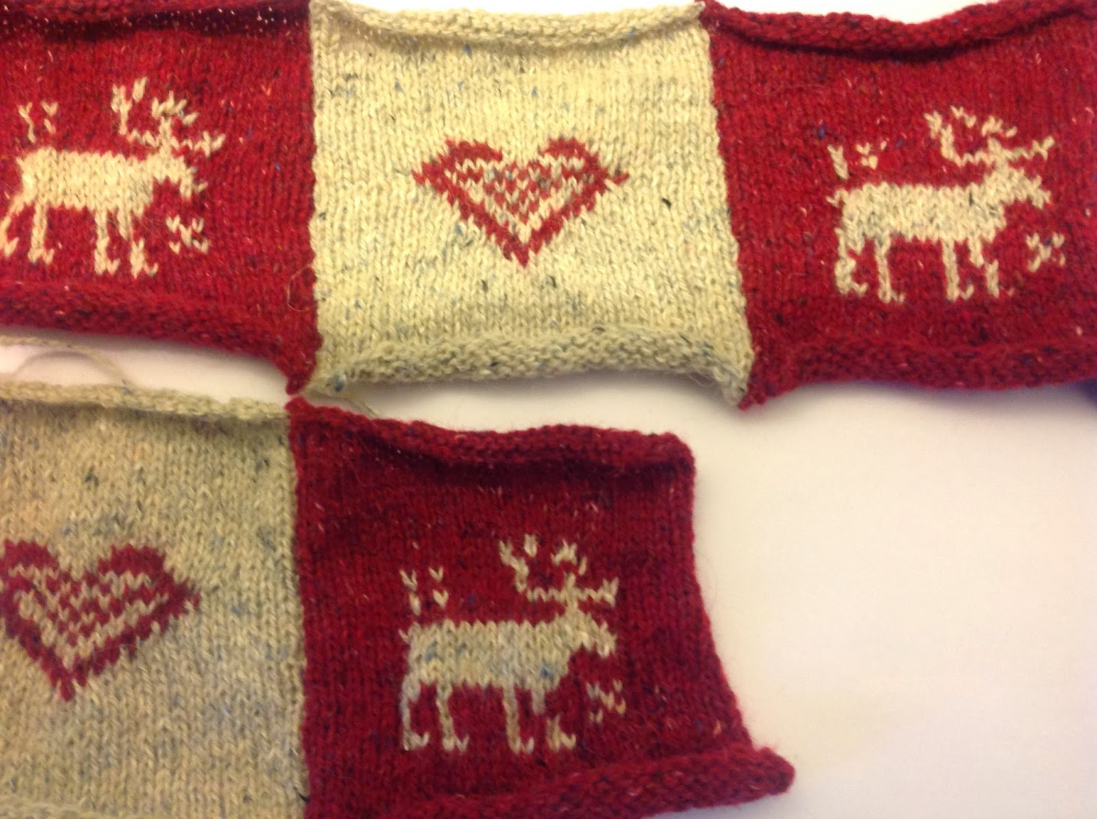 Reindeer Cushion Knitting Pattern : Wonky Witch Needlecraft - My Life In Stitches!