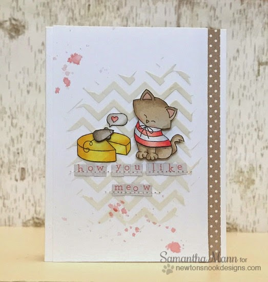 Cat, Mouse and cheese Card by Samantha Mann | Stamps by Newton's Nook Designs