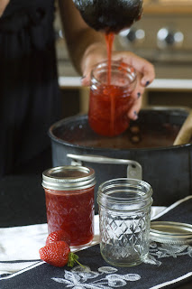 Filling canning jars using tested recipe