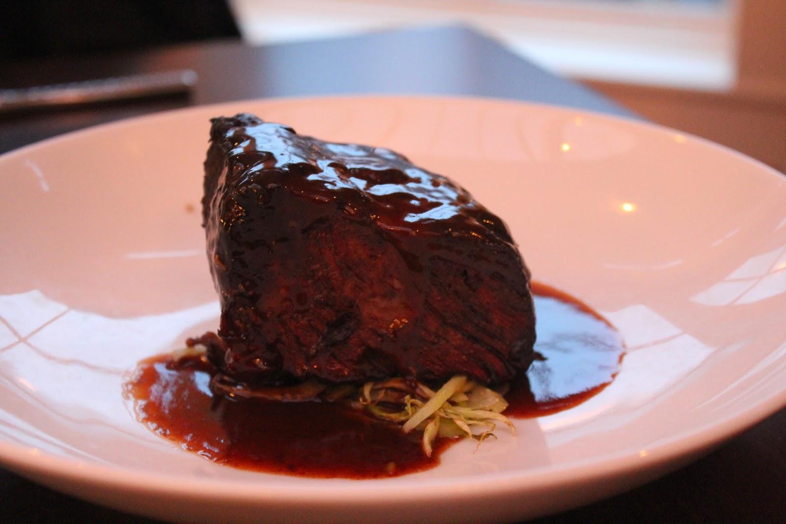 Short ribs at Chopps American Bar and Grill, Burlington, Mass.
