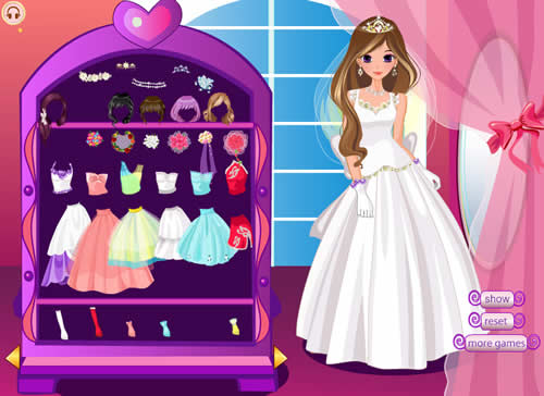 เกมส์แต่งตัวเจ้าหญิงชุดแต่งงาน