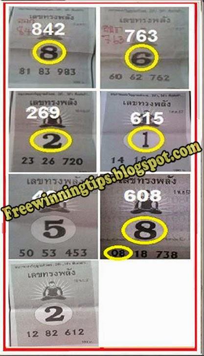 Thai Lotto Magazine Single sure Tip 16-11-2014