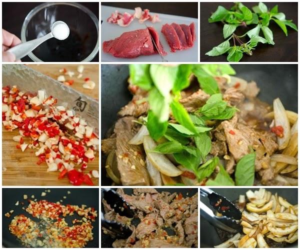 Món thịt bò xào Húng quế đơn giản mà lại ngon 1