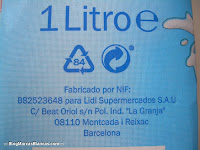 Leche semidesnatada con calcio MILBONA (Lidl)