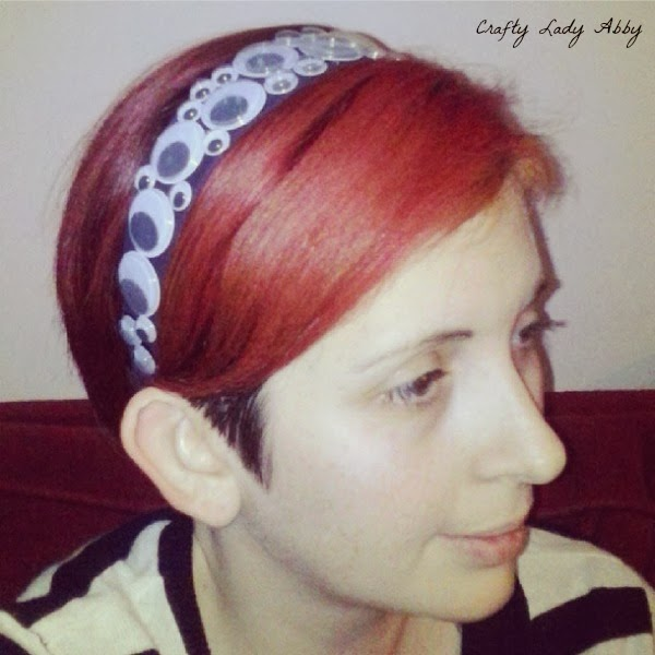 Headwear tutorial googly eye headband for Black headbands dollar tree