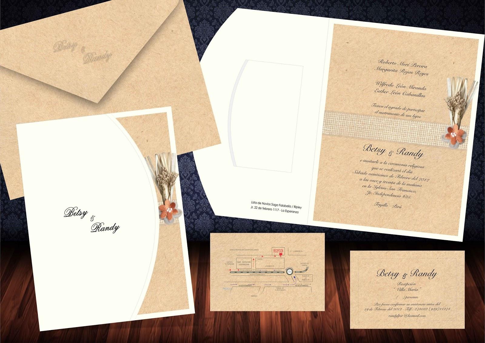 Parte De Matrimonio Rustico : Partes de matrimonio arte y papel invitaciones vintage